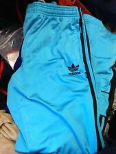 ADIDAS TRACK SUIT PANTS in sports man polyester in size 18 to 26nch at£9 ree
