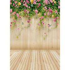 Wooden Planks Flower Photography Background Cloth Backdrop Art Studio Decor