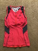 Zoot Pink Gray Triathlon Exercise Sleeveless Top Size M