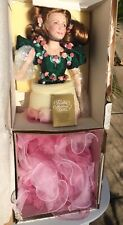 """Franklin Heirloom Porcelain Doll """"The Rose Princess"""" Never Unwrapped From Box."""