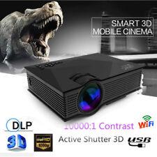 Full HD 1080P Smart 3D Wifi LED Projector Home Theater USB/SD/AV/HDM/VGA/IR UC46