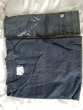 Two Mens DENIM BLUE egyptian cotton t shirt heavyweight new 8.00  size L