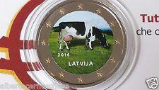 2 euro 2016 LETTONIA color farbe kleur couleur Lettonie Lettland Latvia Латвия