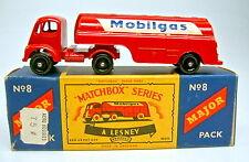 "Major Pack M8A Mobilgas Tanker sehr seltene schwarze Räder perfekt in ""C"" Box"