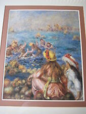 """Pierre-Auguste Renoir The Bathers Large Print W/ Wooden Frame, 27"""" X 21"""" (Image)"""