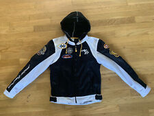 Rare HARLEY DAVIDSON WOMEN'S JACKET COAT -REMOVABLE HOODIE Black White Sz Small