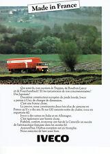 Publicité Advertising 107 1980  Unic   poids Lourds camions Iveco