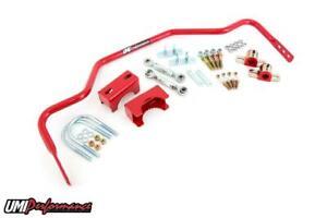 "UMI 78-88 Monte Carlo Malibu G-Body Tubular 1"" Rear Sway Bar Chassis Mounted RED"