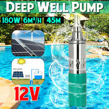 Submersible Water  12V 25M Lift Max Flow 6M³/H Solar Energy Deep Well  !