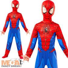 Ultimate SpiderMan Boys Fancy Dress Superhero Spider Man Day Childs Kid Costume