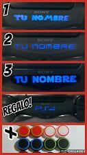 3 pegatinas vinilo mando led juego playstation4 personalizadas+ logo ps4+fundas
