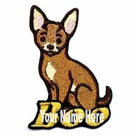 Chihuahua Dog Custom Iron-on Patch With Name Personalized Free