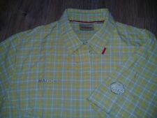 Mammut ladies womens yellow checked outdoor summer short sleeve shirt size L