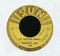 SMOKEY JOE The Signifying Monkey on Sun R&B Rockabilly 45 Push Marks Hear