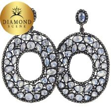 Moonstone Diamond Silver Fashion Earrings