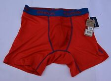 Mens New Reebok Boxer Brief Laser  Red With  Blue Trim  Size M New With Tags