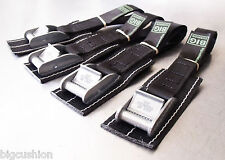 4-pack Bike Cycle Rack Carrier TOUGH cam straps PADDED L45cm Black - Made in UK