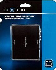 CE Tech VGA to HDMI Adapter Converter Box 1080p Output w/Audio - BRAND NEW!!