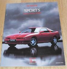 Toyota Sports Brochure 1990 MR2 Celica GT4 Supra Turbo