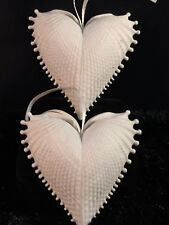 Margaret Furlong Christmas Ornament Sea Shell Wings of Love Pair (2) 1998