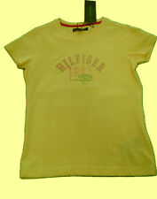 Tommy Hilfiger, cooles, neues, Mädchen T-Shirt, Sommer, Gelb, Gr.140 (MP03)