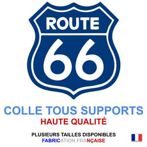 Stickers autocollant Route 66 bleu USA, plusieurs tailles, super prix