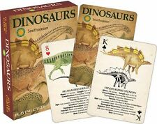 DINOSAURS - SMITHSONIAN - PLAYING CARD DECK - 52 CARDS NEW - 52263