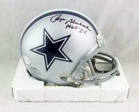 Roger Staubach Signed Dallas Cowboys Mini Helmet w/ HOF - Beckett W Auth *Black