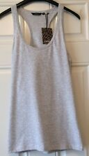 Ladies Golddigga Plain Grey Strappy Vest Top Size 14 New With Tag B14