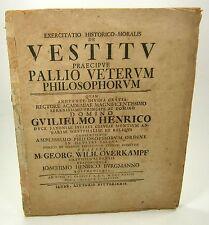 Overkampf: Exercitatio Historico-Moralis De Vestitu Praecipue Pallio Veterum ...
