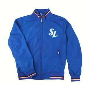 KBO Samsung Lions Team Professional Stadium Jumper Jacket Blue Jersey