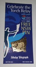 Sydney 2000 Olympics Torch Relay Souvenir Collectable Pin