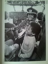 Michael Jackson 5 In Cockpit on Plane in Pilot Cap 1971 Music Magazine 28x19cm