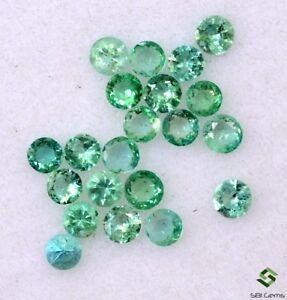Smeraldo Naturale Rotondo Taglio Diamante 2 MM Lotto 21 Pezzi Non Trattato Gemme