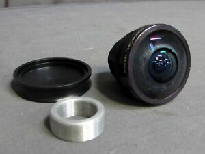 JENOPTIK 1.7cm Fischaugen C-Mount Video Objektiv; 185-DEG, 2.16mm, F/ 3.3-F/ 16