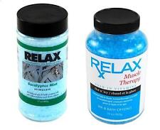 EUCALYPTUS MINT & MUSCLE THERAPY AROMATHERAPY SPA CRYSTALS-BREATHE SOAK RELAX