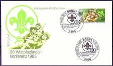 RFA 1985: Scout! FDC de Nr 1254 avec Bonner Tout d'abord tags ses timbres! 1603