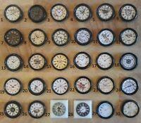 Job lot of three dolls house clocks 1:12th scale 30 to pick from!
