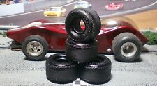 "X-WIDE URETHANE TIRES 2 pair ""XPG"" fit Classic Industries .65""x.60"" Hubs"