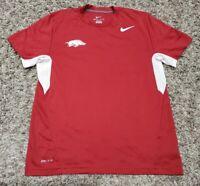 Nike Arkansas Razorbacks Men's Maroon Dri-Fit Short Sleeve Shirt Medium Mascot