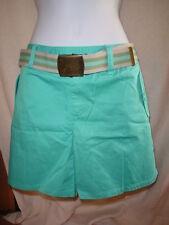 Victorias Secret Vintage Cotton Twill Shorts w/Belt Size 4 Aqua Blue   NWOT
