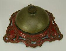 New ListingOriginal Antique Brass Desk Hotel Bell Marked R. Ditmar Vienna Austria