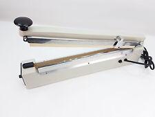 """Impulse Heat Cutter + Sealer 400mm 16"""" Metal Bodied Heat Sealer Packaging"""