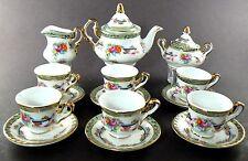PORCELAIN COLLECTIBLE MINI CHILDREN'S TEA SET FLORAL LIMOGES CHINA (A7)