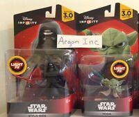 NEW Disney Infinity 3.0 YODA & KYLO REN Star Wars LIGHT FX 2 Characters Wii Xbox
