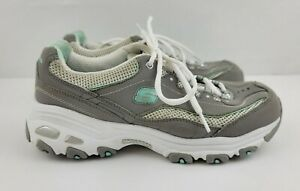 Skechers Womens Size 8 Grey DLites Life Saver Lace Up Walking Shoes 11860