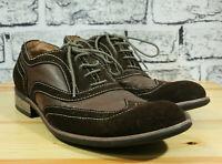 Guess Los Angeles Mens Shoes Brad Oxford Wingtip Brown Suede Sz 9