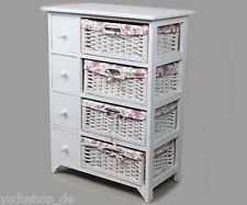 Chest Cabinet with 4xKörben and 4xSchubladen White, 79c