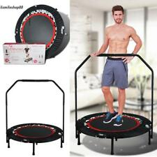 "40"" Foldable Rebounder Fitness Trampoline Jump Gym Exercise With Handrail 300lbs"