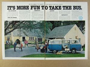 1978 VW Volkswagen Bus blue van photo 2 page vintage print Ad